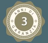 3 anni di garanzia