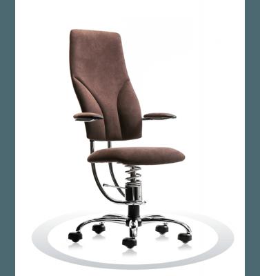 Sedia ergonomica ufficio marrone