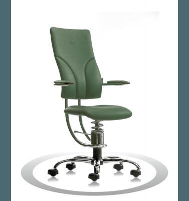 Sedia posturale verde R604 crom